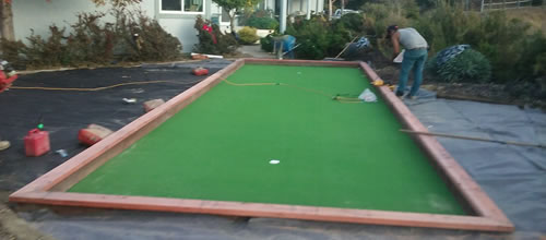 Bocce Ball Court with Built-In Putting Green in Sunnyvale, CA ...