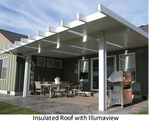 Insulated patio cover with Illumaview added.