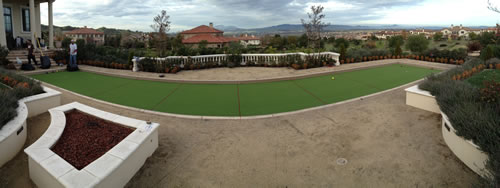 Panoramic Camera Photo Showing the full Booce Court and Putting Green