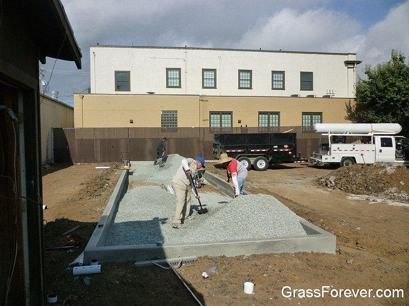 Bocce Ball Court Construction