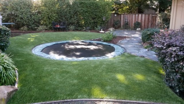 Project: Danville, CA Turf Around Trampoline in Backyard