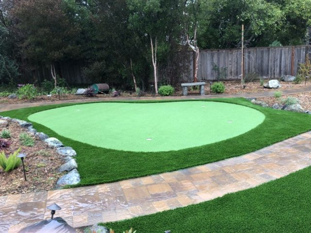 Project: Hillsborough Backyard Synthetic Grass & Putting Green