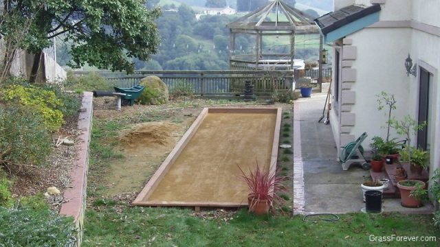 Project: Castro Valley Bocce Court With Gold Fines