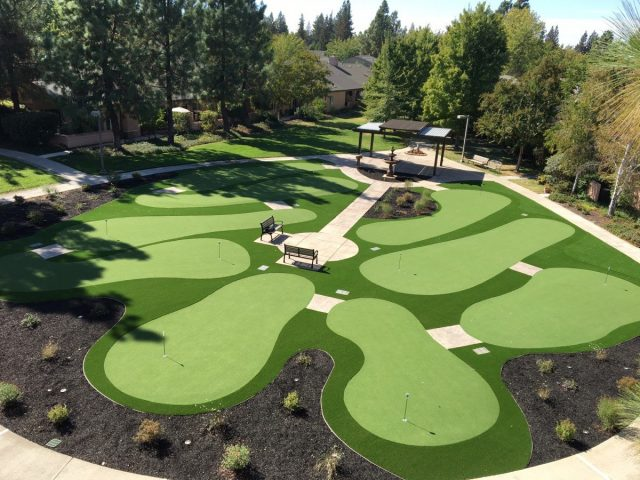 Project: Senior Facility 9 Hole Putting Green Installation – Eskaton Village Green