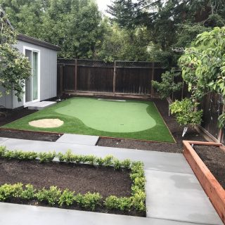 Forever Greens Putting Green Installation in Palo Alto