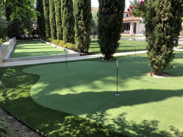 Project: 6-Hole Putting Green & Hybrid Bocce Ball Court – Saratoga