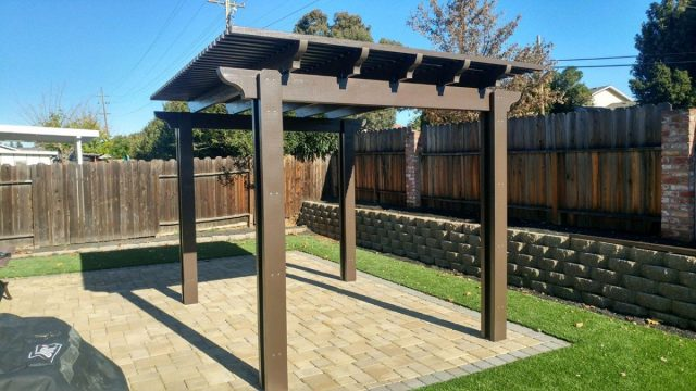 Project: Livermore Free-standing Pergola, Pavers, & Synthetic Grass