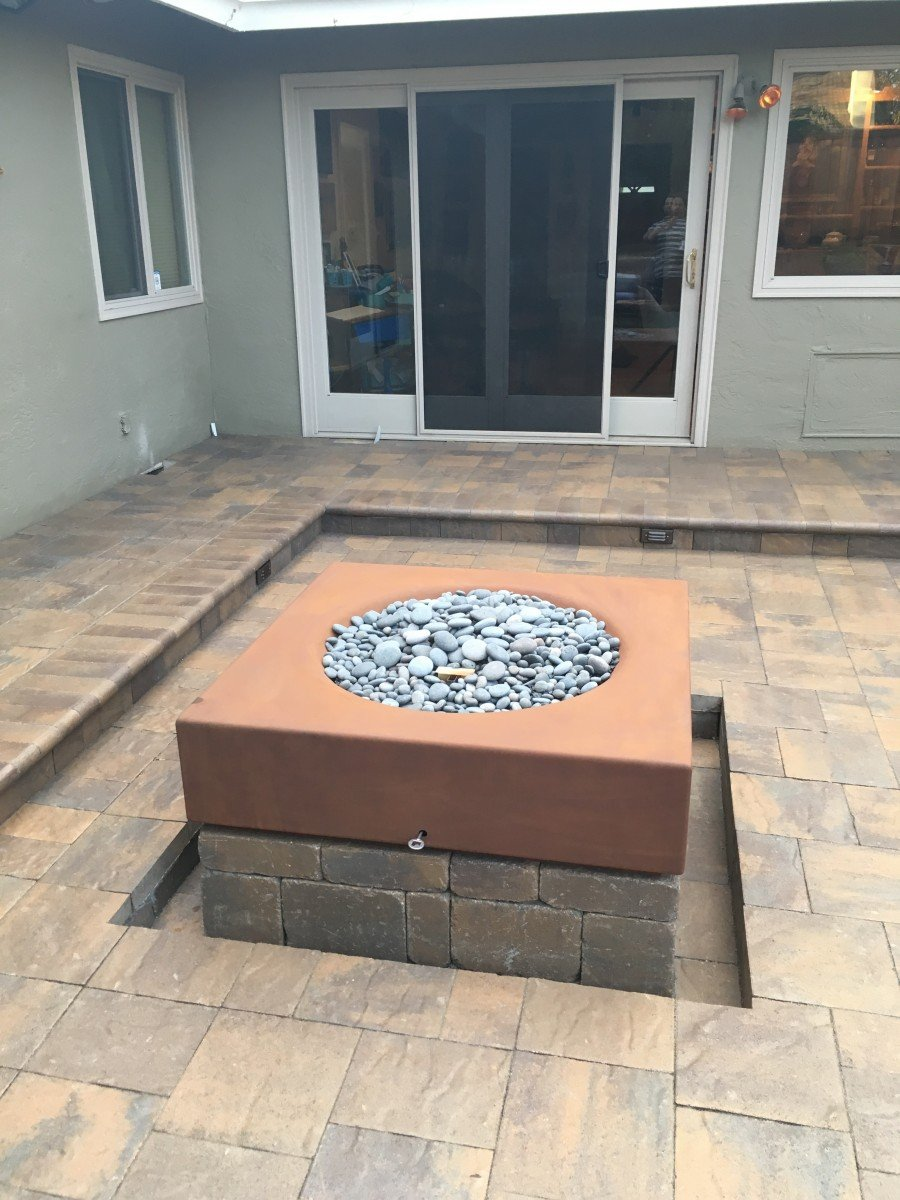 Paver Patio & Fire Pit in Livermore, CA - Forever Greens on Pavers Patio With Fire Pit id=89296