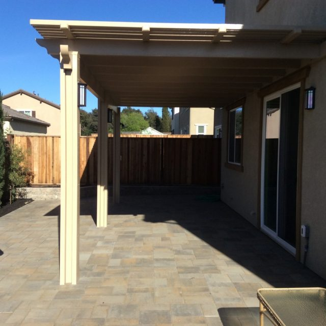 Project: Napa Backyard Pergola, Pet Turf, Pavers & Concrete