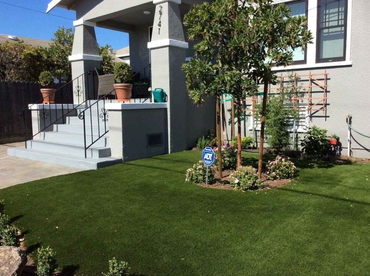 Project: Oakland, CA Front Yard Pavers U0026 Synthetic Grass