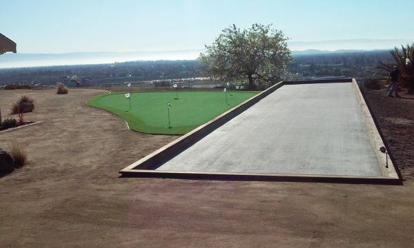 Project: Union City, CA Masonic Lodge Commercial Bocce Court & Putting Green Installation