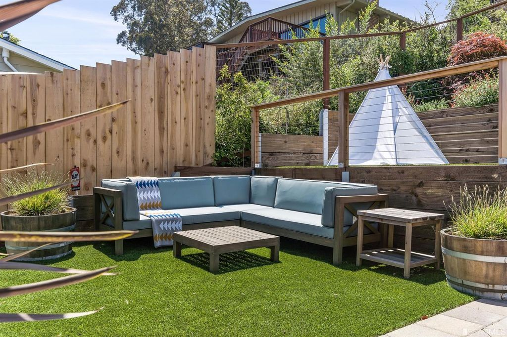 Multi Level Backyard Turf Project In Pacifica Ca