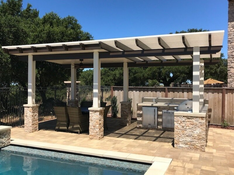 Pavers Patio Cover Veneer Stone Retaining Wall Bocce