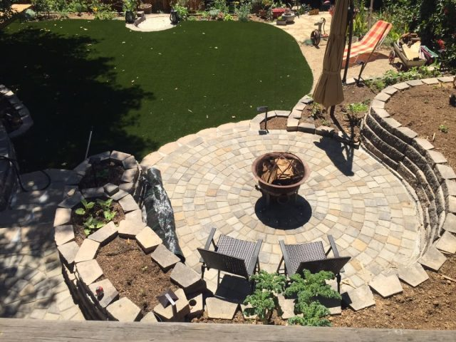 Project: Oakland, CA Paver Circle Kit & Synthetic Grass