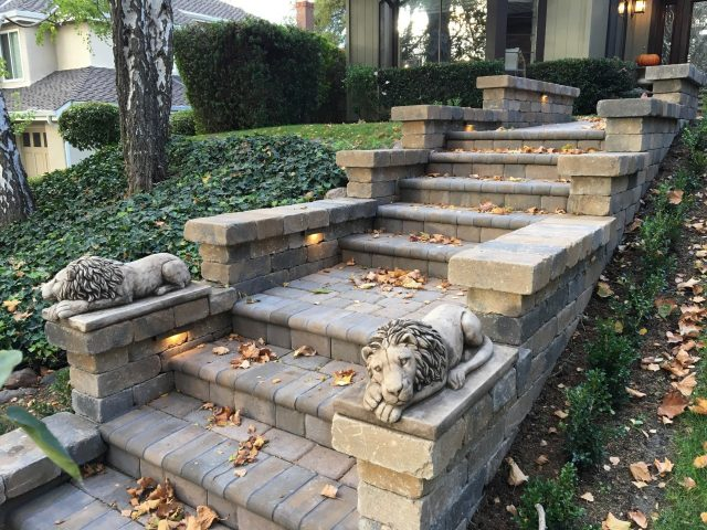 Project: Calstone Antiqued Cobble Paver and Roman Stone Front Stairs