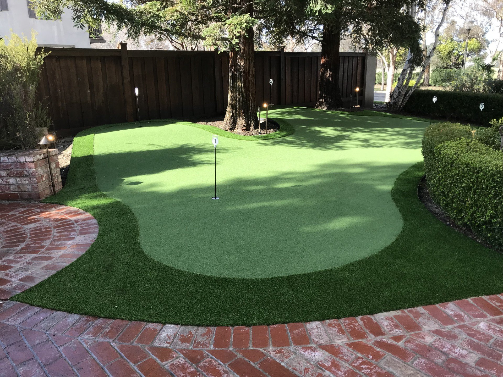 Backyard Putting Green for College Golfer - Forever Greens