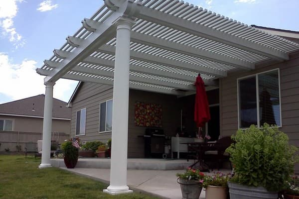 Project: Livermore Attached Lattice Roof Patio Cover U2013 Corbel Ends With  Roman Columns