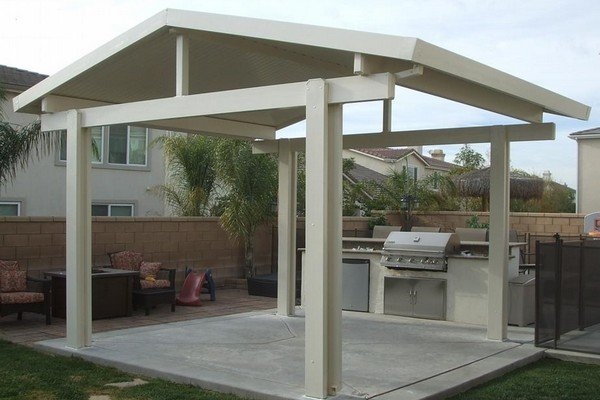 Project: Detached Pergola, Beveled Cut With Standard Posts